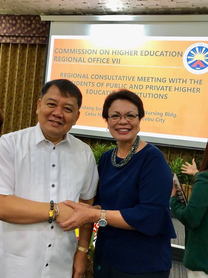Pres. McCann attends CHED regional conference