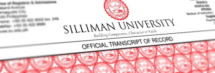 Transcript request silliman university transcript yelopaper Image collections