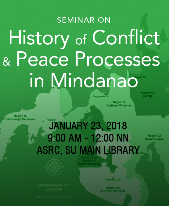 A Seminar on History of Conflict & Peace Processes in Mindanao