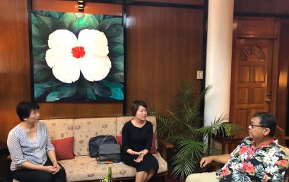 Singapore Embassy Deputy Head of Mission Meets with Dr. Malayang