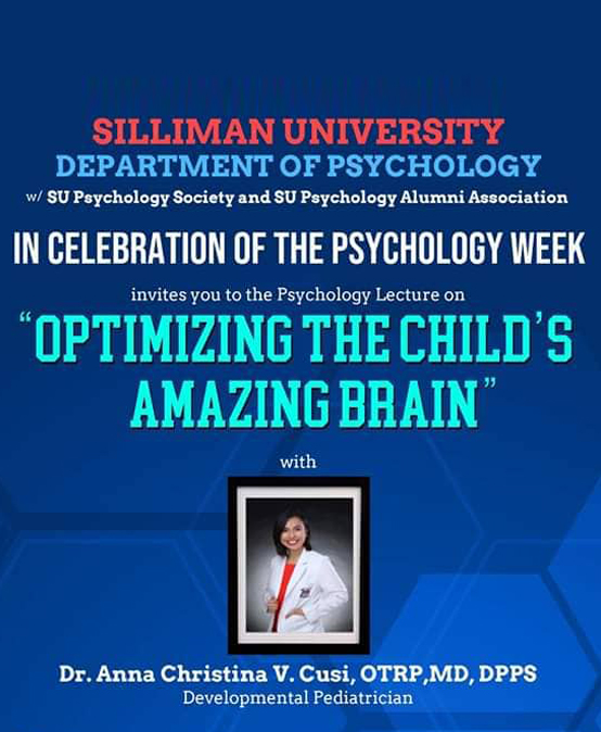 Lecture on Optimizing the Child's Amazing Brain