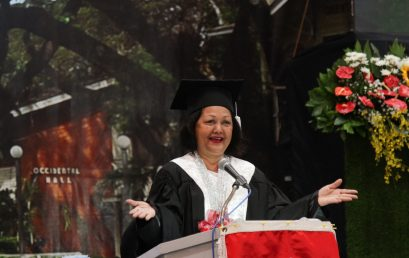Amina Rasul-Bernardo exhorts SU graduates to become involved citizens