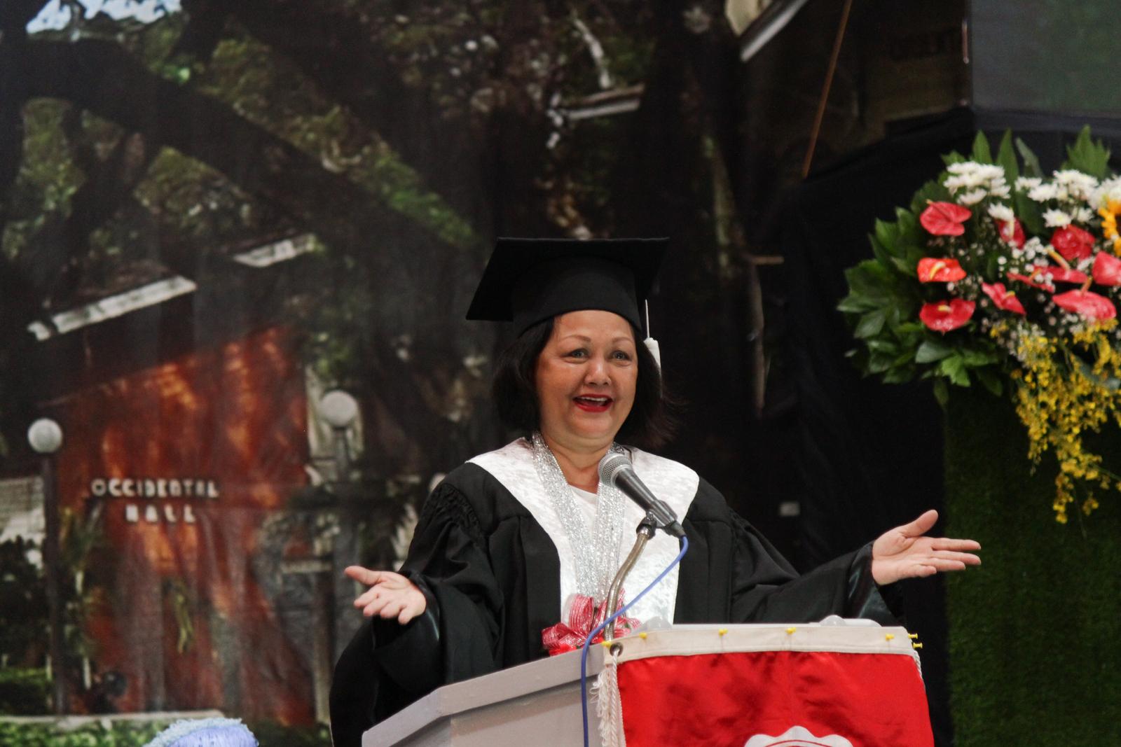 Amina Rasul-Bernardo exhorts SU graduates to become involved citizens