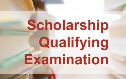 Scholarship Qualifying Examination