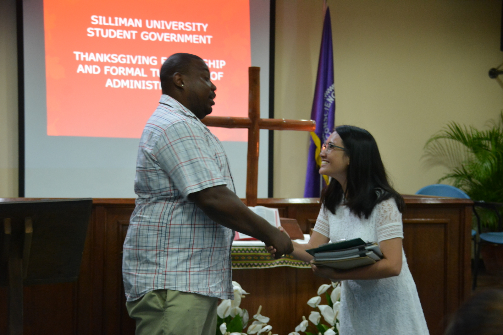 SU student government holds turnover rites for 2019 officials