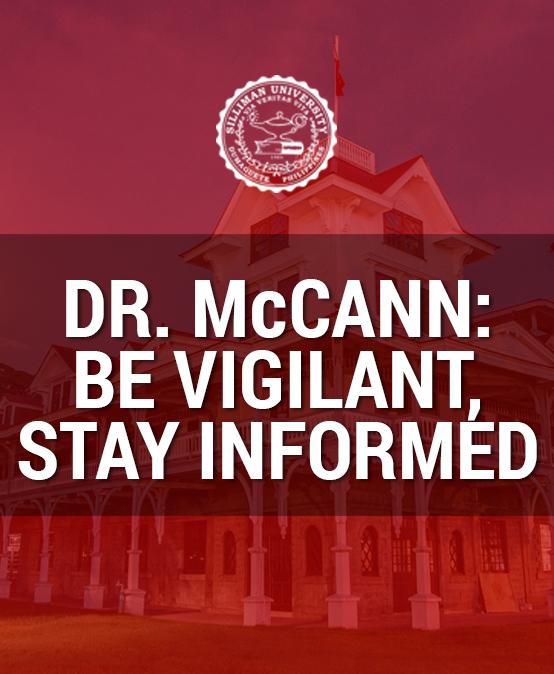Dr. McCann: Be vigilant, stay informed
