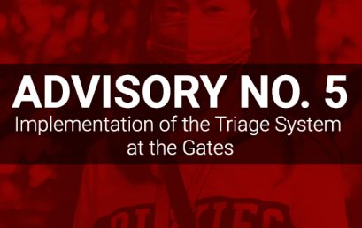 ADVISORYNO. 5: Implementation of the Triage System at the Gates