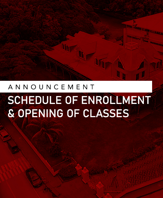 Announcement: Enrollment and Opening of Classes for Academic Year 2020-2021