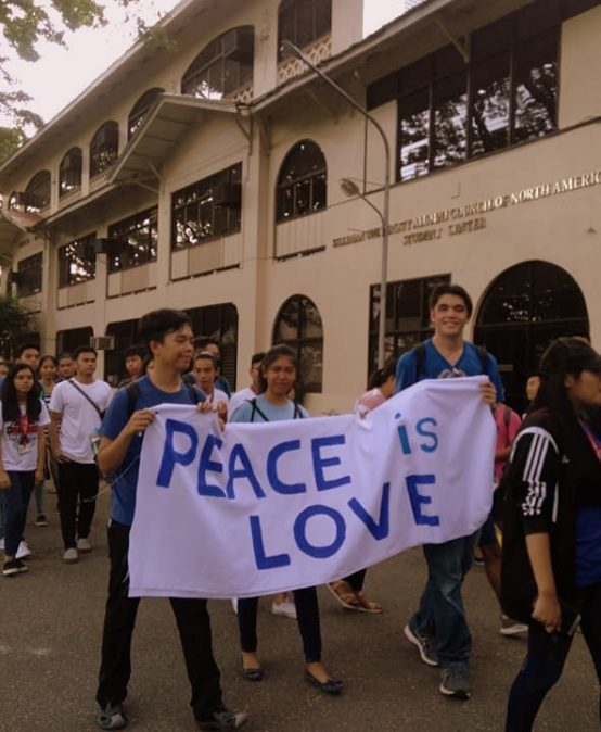 Senior High students join peace parade