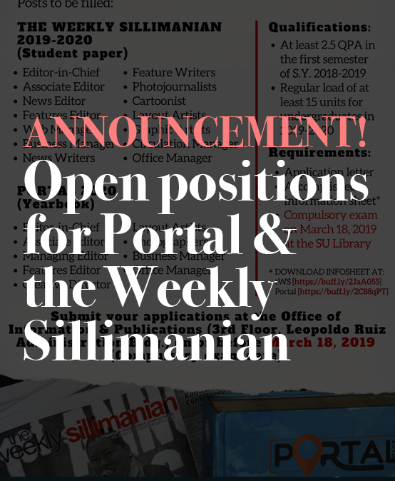 Open positions for Portal and the Weekly Sillimanian