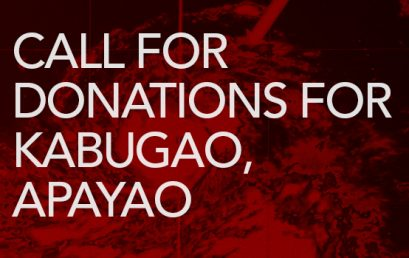 CALL FOR DONATIONS FOR KABUGAO, APAYAO