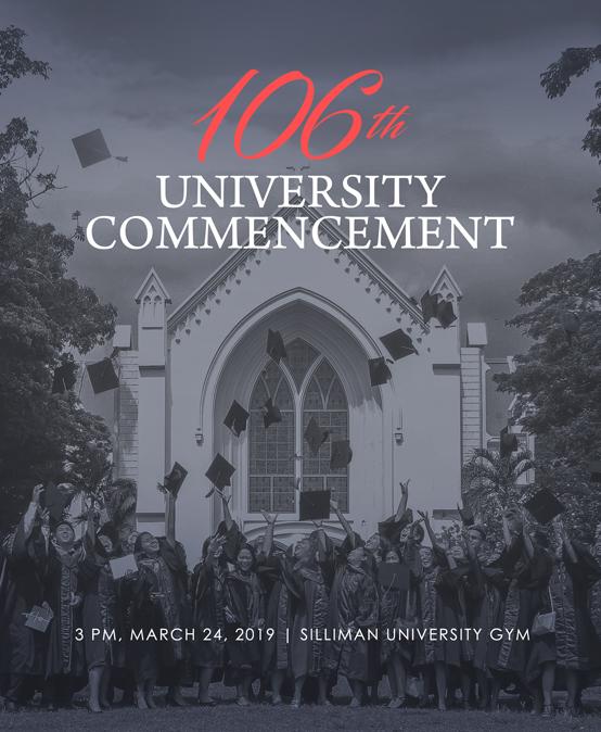 106th University Commencement Calendar of Activities