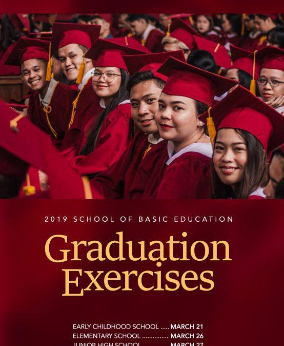 SBE Graduation Exercises Calendar of Activities