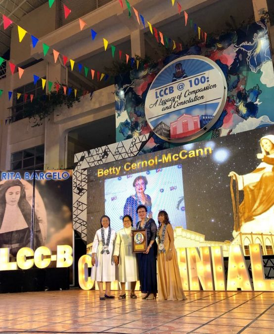 Pres. McCann receives Centennial Legacy Awards 2019