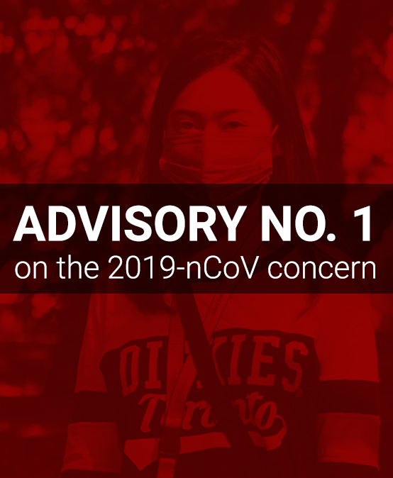 ADVISORY NO. 1 on the 2019-nCoV concern