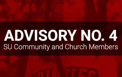 ADVISORY No. 4: SU Community and Church   Members