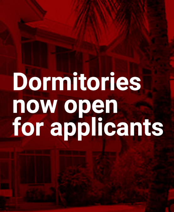 Dormitories now open for applicants