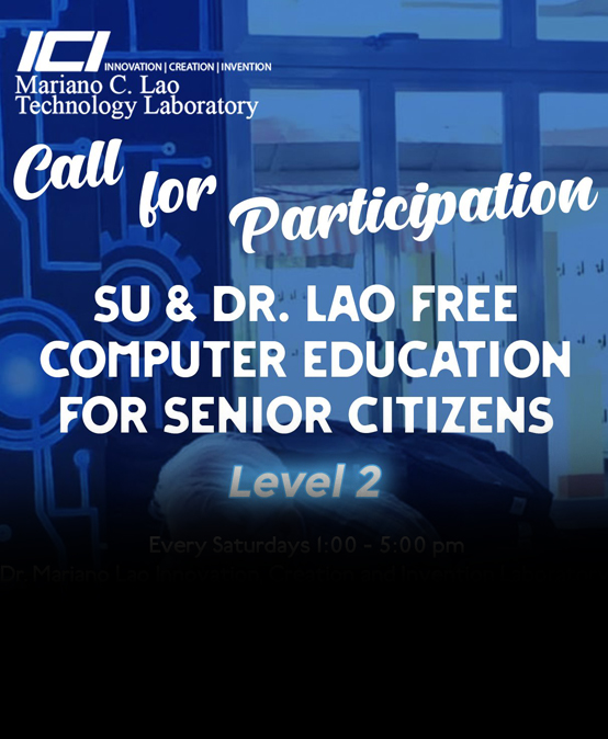 SU & Dr. Lao Free Computer Education for Senior Citizens Level 2