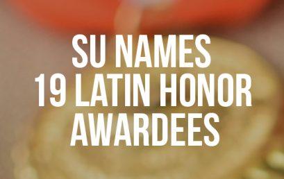 SU names 19 Latin Honor awardees