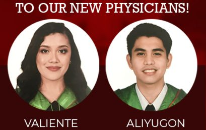 Congratulations to our new Physicians!