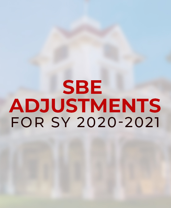 SBE Adjustments for SY 2020-2021