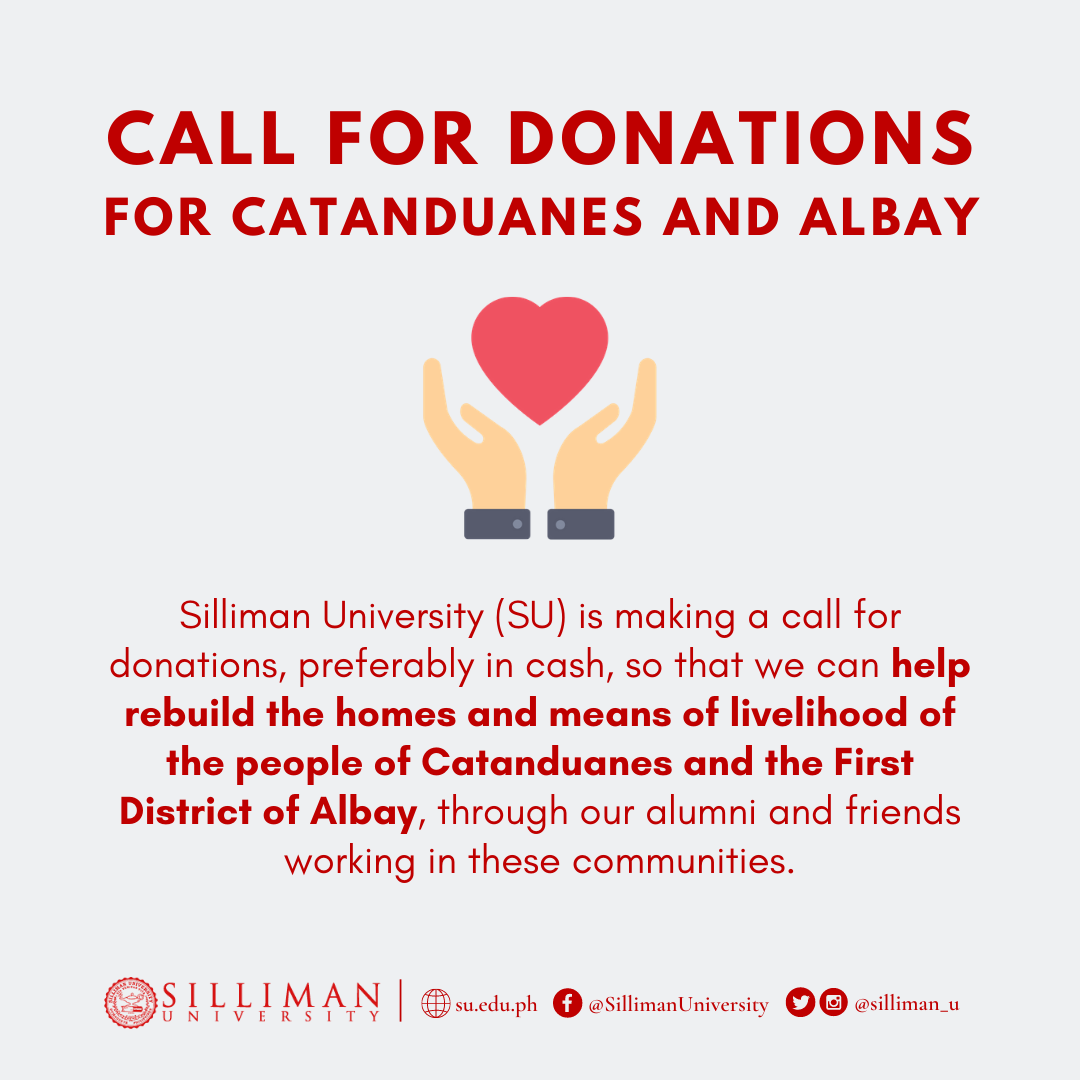 CALL FOR DONATIONS FOR CATANDUANES AND ALBAY