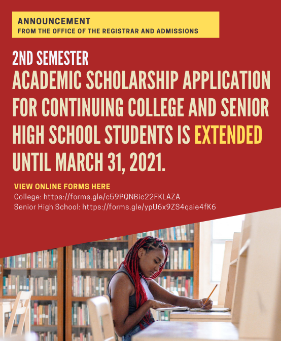 Announcement: Application for Academic Scholarship Extended