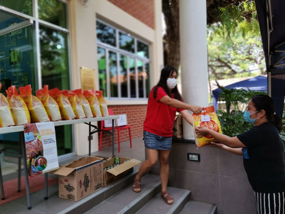 SU-Lao ICI Lab distributes first batch of food packs in Lao assistance program