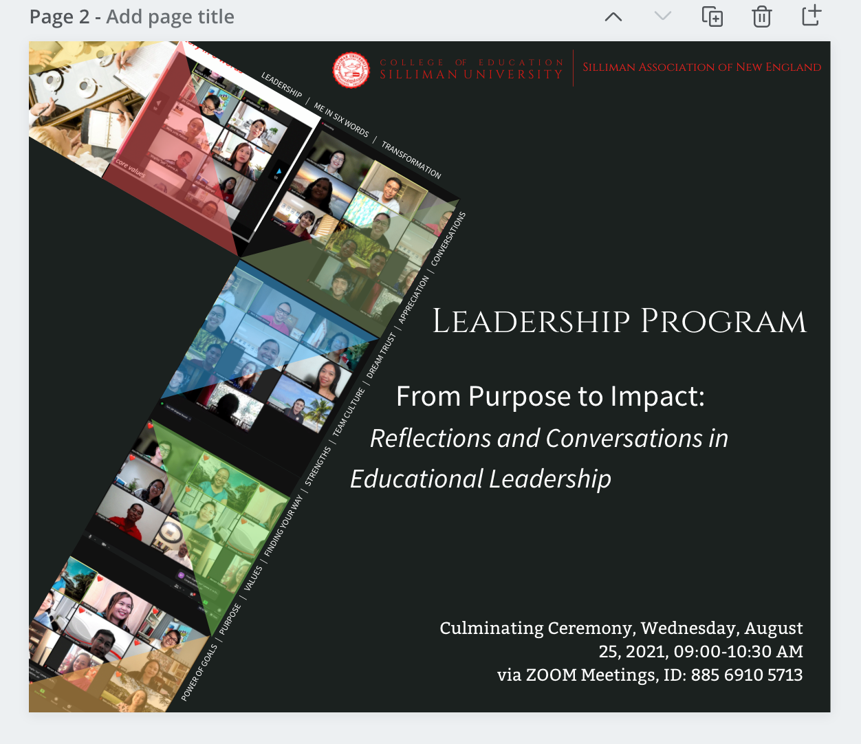 From Purpose to Impact: Reflections and Conversations in Educational Leadership
