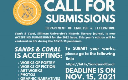Call for Submissions for the Sands and Coral 2022